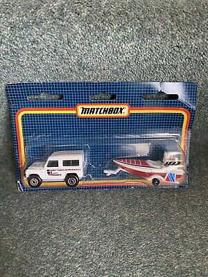 £20 • Buy Matchbox Land Rover And Speed Boat Trailer Sealed In Box Land Rover 90 MIB 1:62