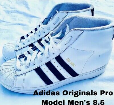 £43.46 • Buy Adidas Originals Pro Model Mens 8.5 White Black Shell Toe Sneakers Shoes S85956