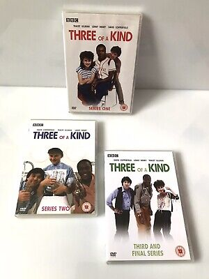 £135 • Buy RARE DVDs - THREE OF A KIND The Complete Seasons 1-3 - BBC Series - Lenny Henry