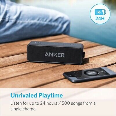 AU58.73 • Buy Anker Soundcore 2 Portable Bluetooth Wireless Speaker Bass 24-Hour Playtime