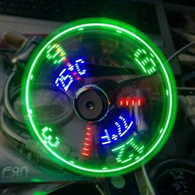 AU22.06 • Buy Mini USB Fan With Clock Time & Temperature LED Light For Laptops PC Cool Gadget