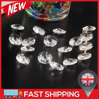 £6.16 • Buy 50xClear Cut Glass Crystals Beads Chandelier Spare Light Parts Bling Drops Kits
