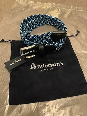 £45 • Buy Anderson's Woven Stretch Belt Multi Blue, Size 80, New With Tag's RRP £79
