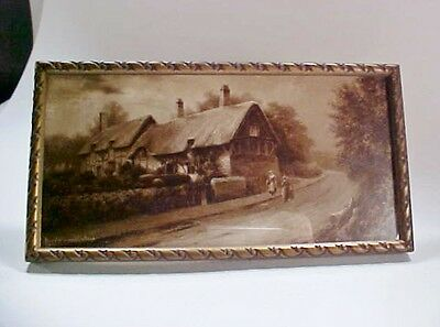 £22.94 • Buy Lot #2: Framed Print, Ann Hathaway's Cottage By Elmer Keene Sepia,  Early 1900s