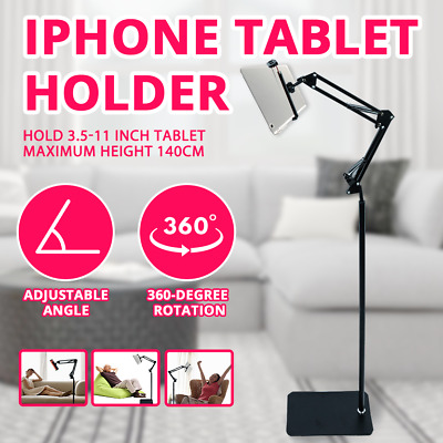 AU33 • Buy Hands Free Floor Stand Bed Clip Holder For IPhone IPad Tablet Adjustable 360°
