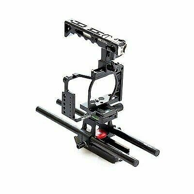 $ CDN203.25 • Buy Shootvilla Camera Cage For Sony Alpha A6500 With Top Handle 15 Mm Rod Adapter