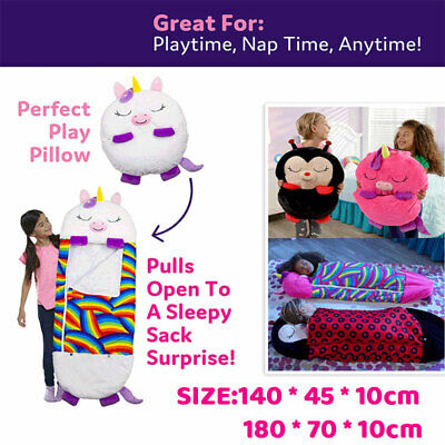 AU36.99 • Buy 2021 Large Size Happy Nappers Sleeping Bag Kids Play Pillow Unicorn