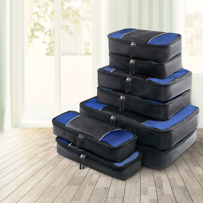 AU28.10 • Buy Luggage Organiser 8PCS Suitcase Sets Travel Packing Cubes Pouch Bag Storage Bags