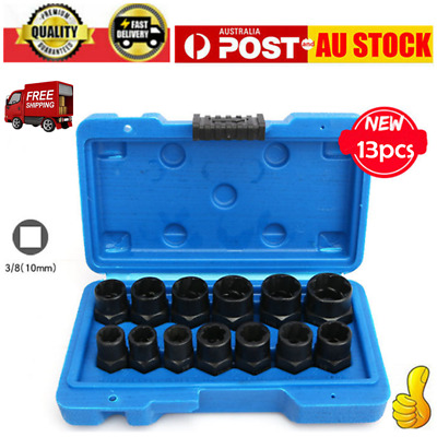 AU29.99 • Buy 13PC Impact Damaged Bolt Nut Screw Remover Extractor Socket Tool Kit Removal Set