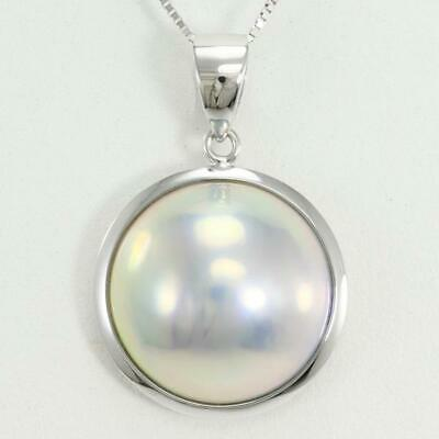 $298 • Buy Jewelry 18K White Gold Necklace Mabe Pearl About3.2g Free Shipping Used