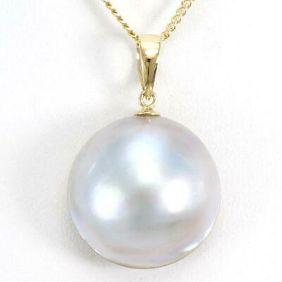 $498 • Buy Jewelry 18K Yellow Gold Necklace Mabe Pearl About5.8g Free Shipping Used