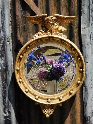 £275 • Buy A Good Vintage Regency Styled Gilt Wall Mirror With Surmounted Eagle