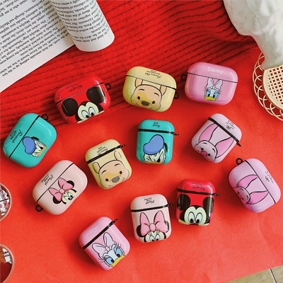 AU11.99 • Buy For AirPod 1 2 Pro Cute 3D Cartoon AirPods Hard TPU Case Protective Cover & HOOK