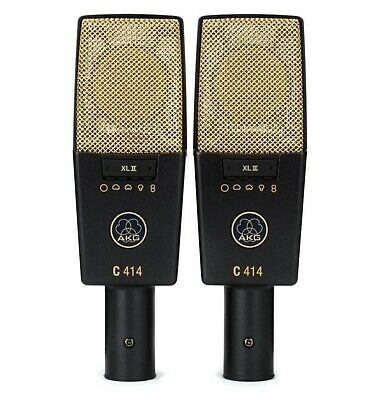 £1275.57 • Buy 2 AKG C414 XLII  Reference Multi Pattern Condenser Microphones Hard Cases Mint