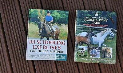 £10 • Buy Horse And Pony Care And 101 Horse Schooling Excercises 2 HB Books