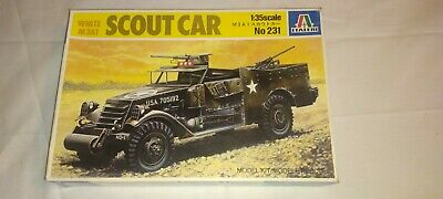 $16 • Buy 1/35 - ITALEREI - SCOUT CAR  M3A1 - Kit No. 231 - Italy