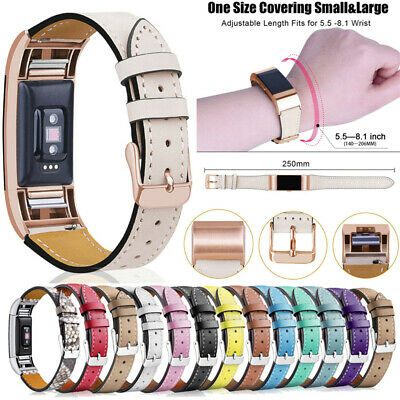£3.99 • Buy For Fitbit Charge 2 Classic Genuine Leather Wristband Metal Buckle Band Strap UK