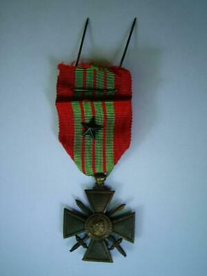 £34.99 • Buy Scarce WW2 French Medal Croix De Guerre 1939 1945 Old Ribbon & Star Citation