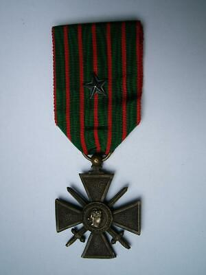 £26.99 • Buy WWI French Bronze Medal Croix De Guerre Military Army Silver Citation 1917