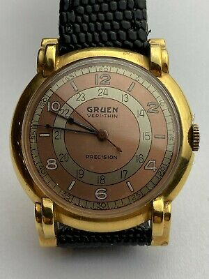 £299.95 • Buy Vintage Gruen Precision Veri-Thin 10k Gold Filled Watch Available Worldwide