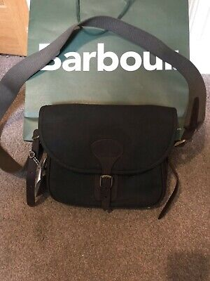 £79.99 • Buy Barbour Waxed Leather Cartridge Bag, Olive Barbour. BNWT