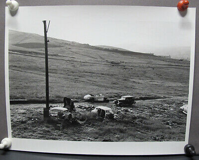 $ CDN6.68 • Buy Vintage DOROTHEA LANGE Attributed Photograph Abandoned Cars Rolling Hills Yqz