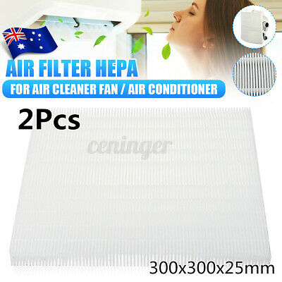 AU28.89 • Buy 2x DIY Air Filter HEPA Dustproof For Air Conditioner Cold Cooling Fan Cleaner