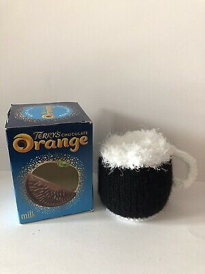 £3 • Buy Hand Knitted Beer Mug, Fathers Day Chocolate Orange Cover