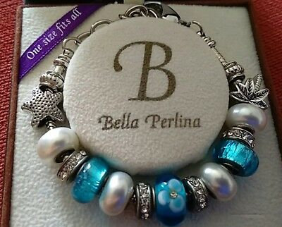 £30 • Buy Stunning Bella Perlina Bracelet With Turqoise And Pearl Beads In Vgc Great Gift!