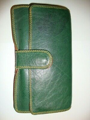 £9.95 • Buy Green & Brown  Soft Leather Case For Psion 5 Or 5mx Or Series 3