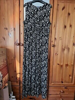 £10.50 • Buy Laura Ashley Black And White Floral Maxi Dress Size 14 Used