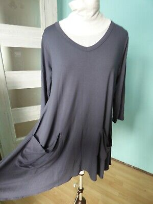 £22.99 • Buy Yong Kim Grey Tunic Dress With Pockets Size 12 NEW Might Fit Also 14