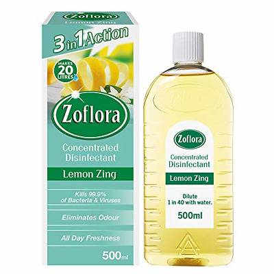 £5.51 • Buy Zoflora Concentrated Antibacterial Disinfectant,3 In 1 Lemon Zing 500ml