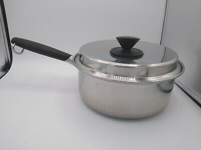 $ CDN66.79 • Buy Prudential Ware 3 Quart Saucepan With Lid 18-8 TriClad Stainless Steel 8.75  VTG