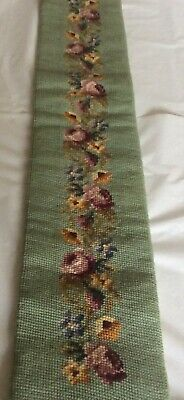 £34.99 • Buy Vintage Tapestry Needlepoint Bell Pull - Trailing Floral Garland - Very Nice