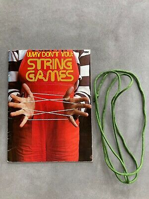 £2.87 • Buy Vintage String Games Book Illustrated Paperback How To Cats Cradle 17 Challenges