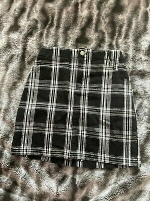 £0.99 • Buy Hollister High Rise Skirt - Black And White Check Size Xsmall