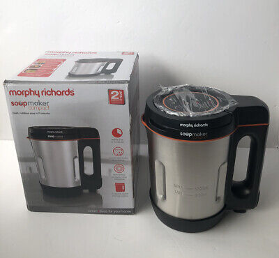 £19.99 • Buy Morphy Richards Compact 1L 900W Stainless Steel Soup Maker 501021 -2 Yr Gurantee