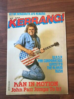 £8.49 • Buy Vintage KERRANG! Music Magazine. #107 - John Parr,Rush,The Alarm. With Posters