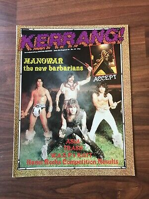 £8.49 • Buy Vintage KERRANG! Music Magazine. #47 - Manowar,W.A.S.P,Accept. With Posters VGC