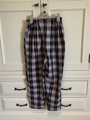 £1 • Buy Topshop Loving Youth Checked Wide Leg Trousers Size 6