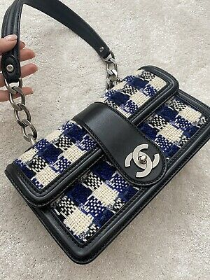 AU1959.63 • Buy CHANEL Authentic Leather Tweed Bag 100% Authentic