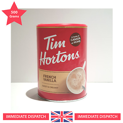 £17 • Buy Tim Hortons French Vanilla Latte 🌟 Exclusive LARGE - 500g 🌟 - Free Delivery