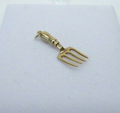£30 • Buy 9ct Gold Charm Fork Gardening Tool Dangle Traditional Gift Box