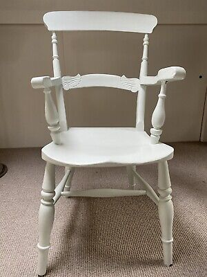 £32 • Buy Captains Carver Chair - Painted Light Grey Blue