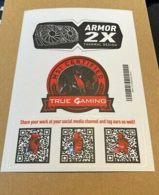 £2.99 • Buy PC Stickers Genuine MSI Gaming Dragon PC Case Laptop Stickers Badges