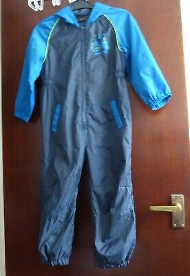 £5 • Buy Blue Hooded Fleece Lined Puddle Suit Splash Suit - Age 3 - 4 Years - Next