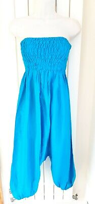 £1.99 • Buy BNWT Lovely Turquoise Harem Style Bandeau Strapless Jumpsuit Approx Size 8 10 12