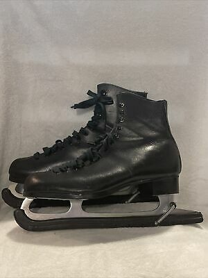 $79.99 • Buy Ice Skates Leather Vintage Cowhide Leather Black Men's Size 10 Made In USA