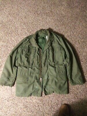 $35 • Buy Genuine Olive Green Military M65 Field Jacket W Liner Size  Small/short